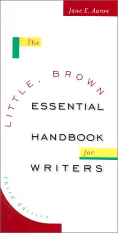 9780321049704: The Little, Brown Essential Handbook for Writers (3rd Edition)