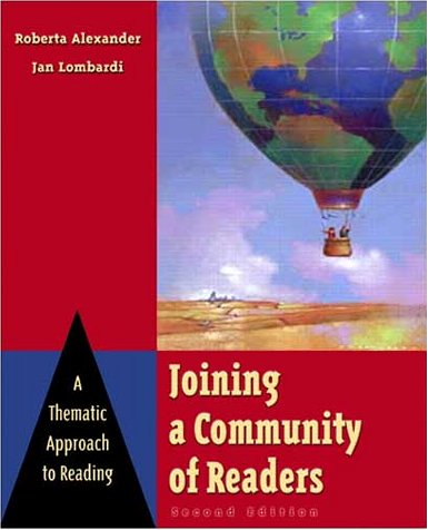 9780321050991: Joining a Community of Readers: A Thematic Approach to Reading (2nd Edition)
