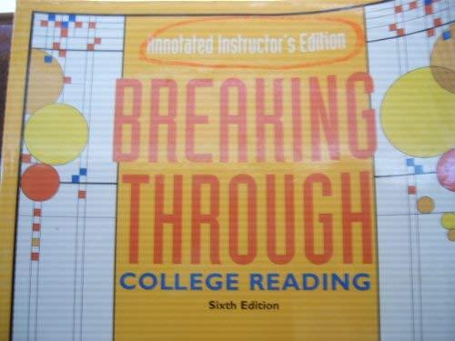 9780321051042: Breaking Through: College Reading
