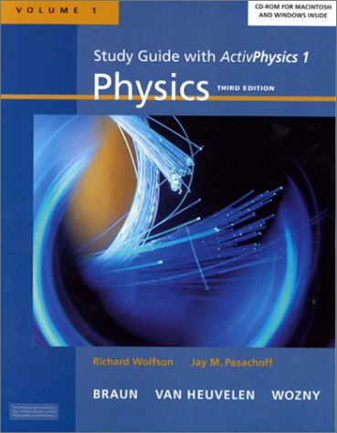 Physics for Modern Physics for Scientists and Engineers: Volume 1: ActivPhysics 1 [With CDROM] (0321051483) by Wolfson, Richard; Pasachoff, Jay M.