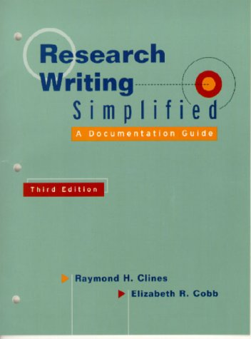 9780321055057: Research Writing Simplified: A Documentation Guide (3rd Edition)