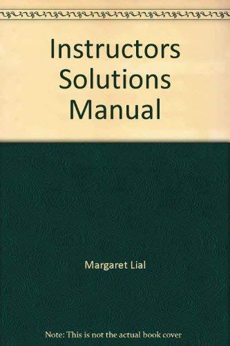 9780321057532: Instructors Solutions Manual