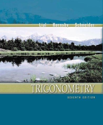 9780321057594: Trigonometry (7th Edition)