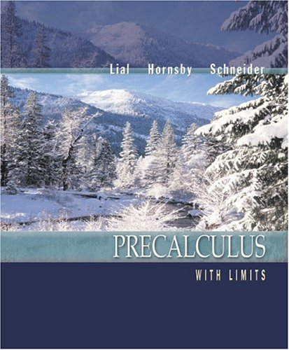 Precalculus with Limits: Margaret L. Lial,