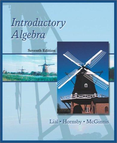 9780321064585: Introductory Algebra (7th Edition)