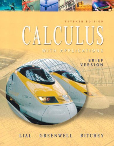 9780321067128: Calculus With Applications: Brief Version