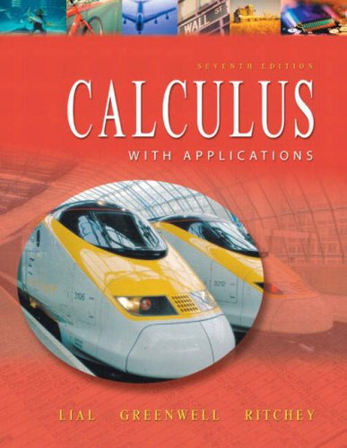 9780321067135: Supplement: Calculus with Applications - Calculus with Applications: International Edition 7/E