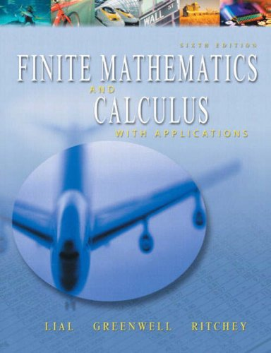 9780321067159: Finite Mathematics and Calculus With Applications