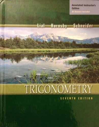 9780321068606: Trigonometry, 7th Edition, Annotated Instructor's Edition