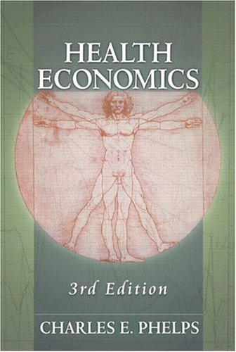 Health Economics 9780321068989 In this market-leading text, Phelps combines current economic thinking and research in health economics with real health policy problems. New to the heavily revised Third Edition is a chapter on Managed Care and additional coverage of pharmaceutical industries, as well as an appendix for review of the Math and Microeconomics concepts used in the book. The early chapters of Health Economics develop essential methodological foundations supported by recent empirical studies. Later chapters focus on major policy areas, such as the structure and effects of Medicare reform, competition and regulation in health care, and international comparisons of health care systems, building on the conceptual material developed earlier in the book.