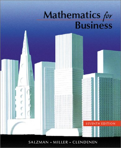 9780321069207: Mathematics for Business (7th Edition)