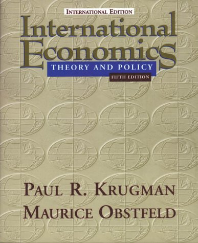 9780321077271: International Economics: Theory and Policy (World Student)