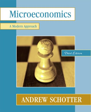 9780321077479: Microeconomics: A Modern Approach (3rd Edition) (Addison-Wesley Series in Economics)