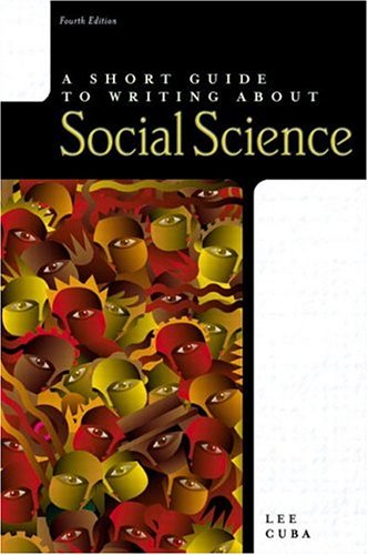 9780321078421: A Short Guide to Writing about Social Science (4th Edition)