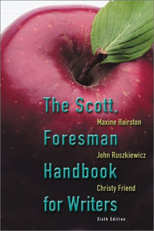 9780321078902: The Scott, Foresman Handbook for Writers (6th Edition)
