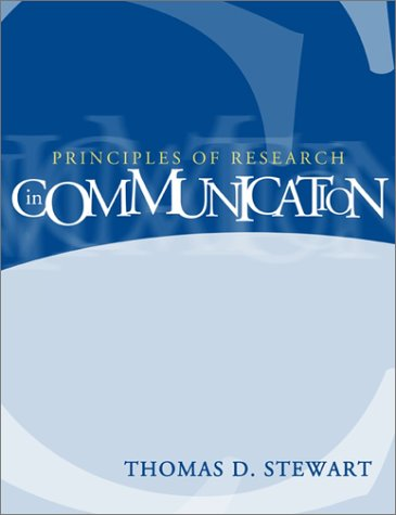 9780321078933: Principles of Research in Communication
