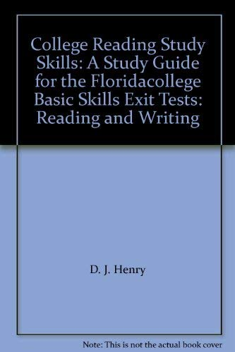 9780321080660: College Reading Study Skills: A Study Guide for the Floridacollege Basic Skills Exit Tests: Reading and Writing
