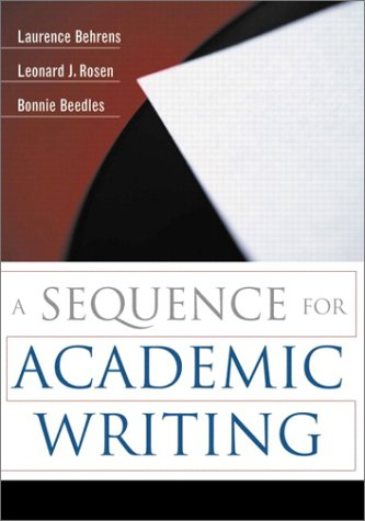 9780321081339: A Sequence for Academic Writing
