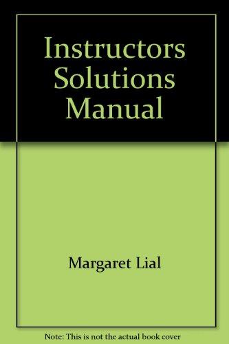 9780321081988: Instructors Solutions Manual