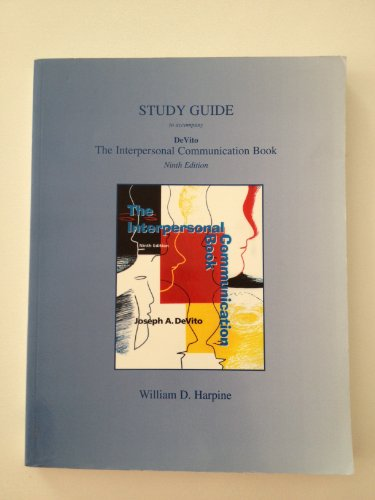9780321085108: Study Guide to accompany The Interpersonal Communication Book, 9th Edition