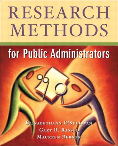 9780321085580: Research Methods for Public Administrators