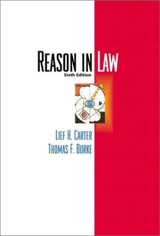 9780321085603: Reason in Law (6th Edition)