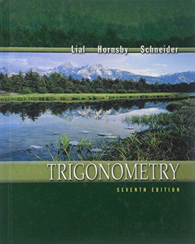 Trigonometry: Lial, Margaret L.;