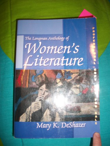 9780321086136: The Longman Anthology of Women's Literature