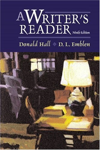 9780321087485: A Writer's Reader (9th Edition)