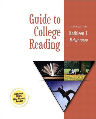 9780321088628: Guide to College Reading (6th Edition)