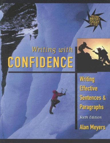 9780321088932: Writing with Confidence: Writing Effective Sentences and Paragraphs