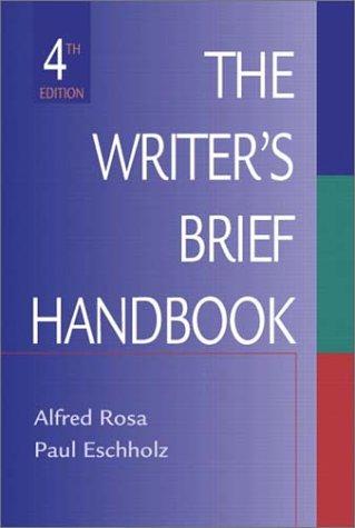 9780321089311: The Writer's Brief Handbook (4th Edition)