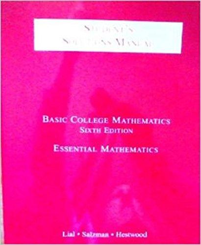 Students Solutions Manual: Margaret Lial, Stanley Salzman, Diana Hestwood