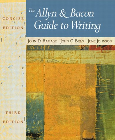 9780321093264: The Allyn & Bacon Guide to Writing, Concise Third Edition