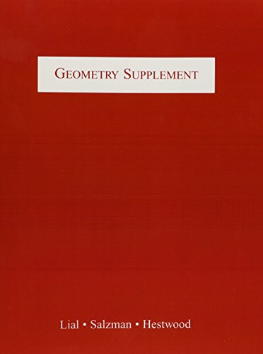 Geometry Supplement (6th Edition): Margaret L. Lial,