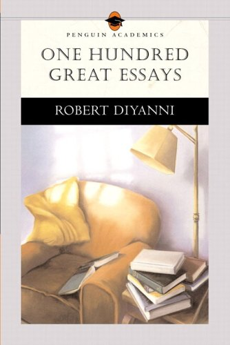 one hundred great essays T100 essay and journal topics ken stewart chapel hill high school chapel hill, north carolina journal writing is an informal approach to developing students' writing skills.