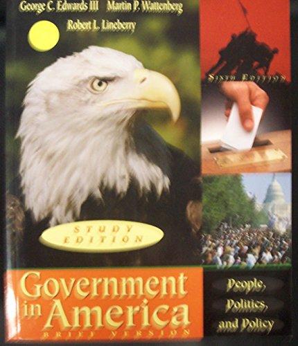 9780321096975: Government in America (Brief Version) (Study Edition)