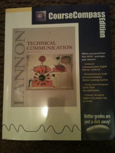 9780321098542: Technical Communication (CourseCompass Edition) (8th Edition)