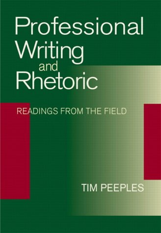 9780321099754: Professional Writing and Rhetoric: Readings from the Field