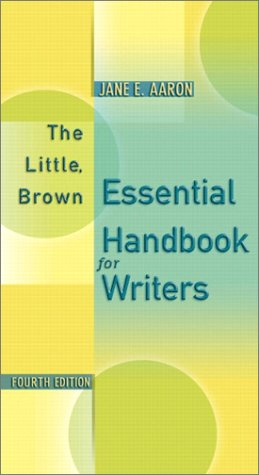 9780321100450: The Little, Brown Essential Handbook for Writers (4th Edition)