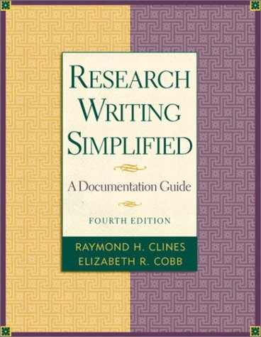 9780321101457: Research Writing Simplified (4th Edition)