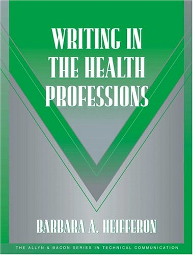 9780321105271: Writing in the Health Professions