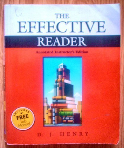 9780321105431: The Effective Reader