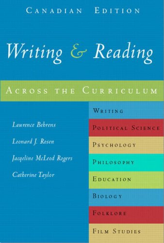 Writing and Reading Across the Curriculum, Canadian: Laurence Behrens, Leonard