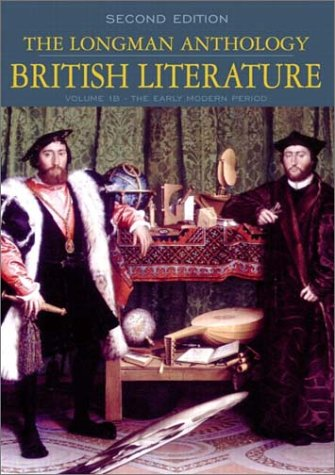 9780321105783: The Longman Anthology of British Literature, Volume 1B: The Early Modern Period