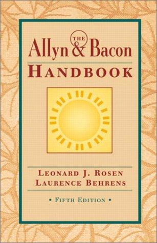 9780321106209: The Allyn & Bacon Handbook (5th Edition)