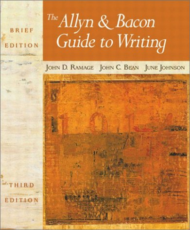 9780321106216: The Allyn & Bacon Guide to Writing (Brief 3rd Edition)