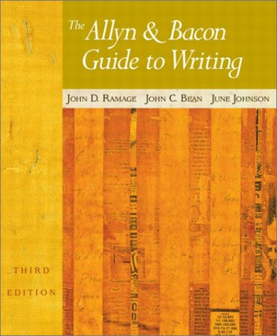 9780321106223: The Allyn & Bacon Guide to Writing (3rd Edition)