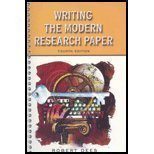 9780321107541: Writing the Modern Research Paper