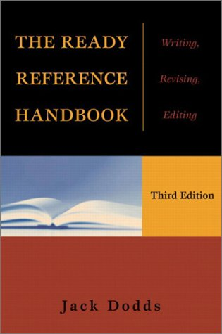 9780321107565: The Ready Reference Handbook: Writing, Revising, Editing (3rd Edition)